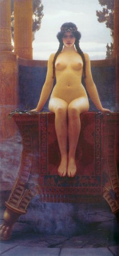 - Godward John William The Delphic Oracle 100% Hand Painted Oil Paintings Reproductions 24X36 Inch
