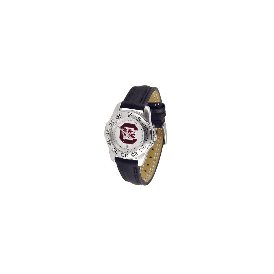 South Carolina Gamecocks Womens Leather Band Athletic Watch