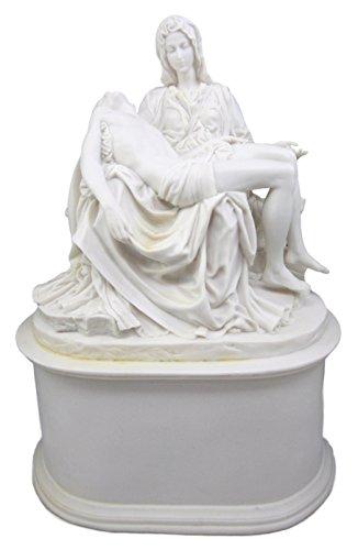 Atlantic Collectibles White Catholic La Pieta Cremation Urn Devotional Figurine 14.75