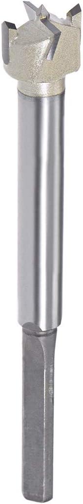 120mm de longitud sourcing map 18mm taladro metal de Taladro Forstner de Bisagra de Perforaci/ón v/ástago de 7mm
