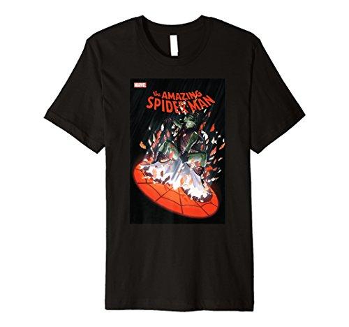 Marvel Spider-Man Goblin Shatter Comic Cover Premium T-Shirt