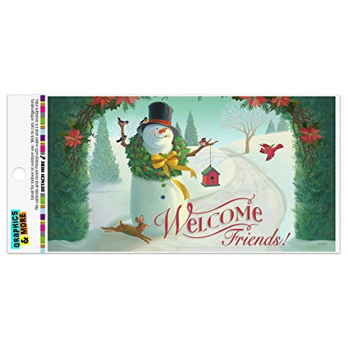 Graphics and More Christmas Holiday Welcome Friends Snowman Automotive Car Refrigerator Locker Vinyl Magnet