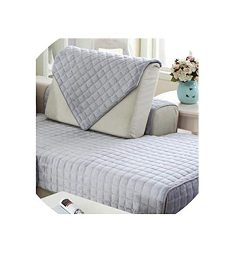 (Sofa Plush Protective Case Couch Covers Sofa Cover Quilted Twill Sofa Cushion Fabric Non-Slip Sofa Towel,H,90x90cm)