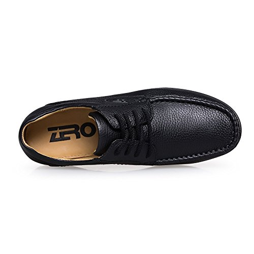 ZRO Men's Classic Lace Up Shoes Casual Oxford BLACK US 9.5
