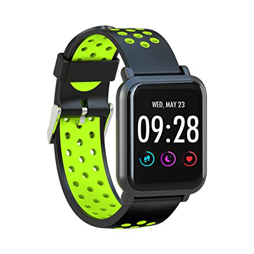 Sport Waterproof Smart Watch, Gunel Fitness Tracker with Heart Rate Blood Pressure,Blood Oxygen, Sleep Monitor,Message Call Reminder Smart Watch, Compatible for iPhone/Android (G)