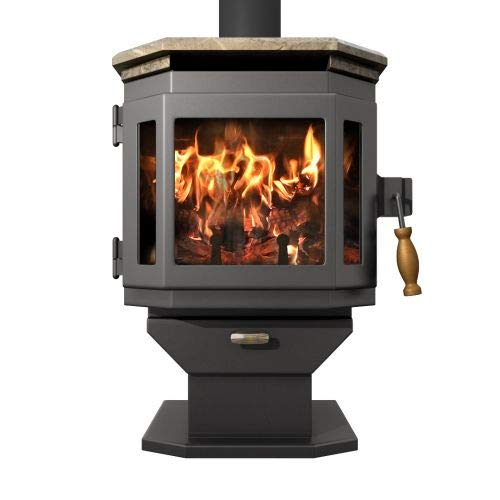 1L S Wood Stove w/Soapstone Top and Room Blower Fan