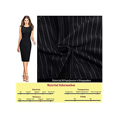 VFSHOW Womens Slim Zipper up Work Business Office Party Sheath Dress at Women's Clothing store