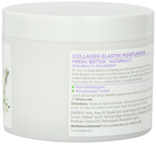 St. Ives Facial Moisturizer, Timeless Skin Collagen Elastin, 10oz