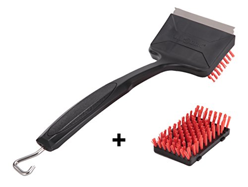 Unicook Grill Brush Safe Nylon BBQ Brush Scraper, Heavy Duty XL Grill Cleaner, Best Alternative to Wire Bristles Brush, Buy One Get One Extra 5
