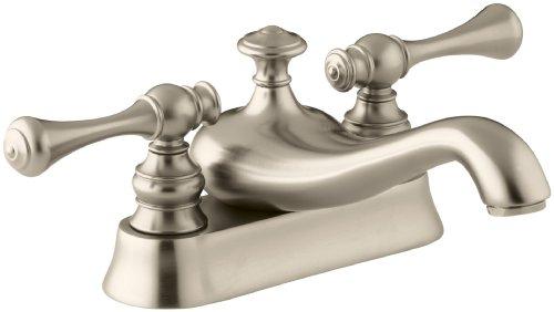 (KOHLER K-16100-4A-BV Revival Centerset Lavatory Faucet, Vibrant Brushed Bronze)