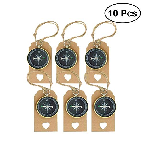 Tuersuer Wedding Festival Party Decoration 10 Sets Travel Themed Souvenirs Compass and Tags Labels Party Favors for Wedding Birthday -