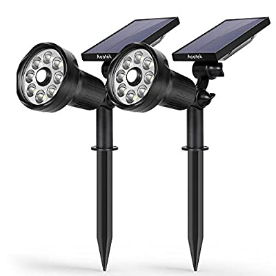 New 3rd Generation Motion Sensor Solar Spotlight 8 LED Adjustable 3-in-1 Lighting Auto On/Off Waterproof Outdoor Landscape Lighting Security for Outside Patio Yard Garden Driveway - New 3rd Generation with Built-in Upgraded Motion Sensor which can detect people up to 25 feet within 120 degrees. SUPER BRIGHT 8 LED SOLAR LIGHTS: 8 LED Design provides a super bright level of illumination for a wide area. A 2200 mah rechargeable lithium-ion battery makes it brighter and more durable than other similar solar lights in the market 3-in-1 Intelligent Energy-saving Lighting Modes all mode Auto on at dusk and off at sunrise; 1. dim lightmode 2. dim + bright when motion detected: 3. hight bright Mode - patio, outdoor-lights, outdoor-decor - 41U2fyF%2BfoL. SS400  -
