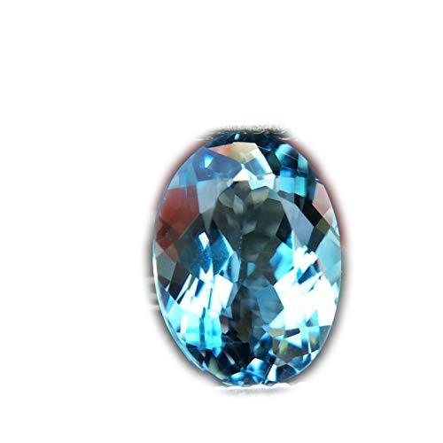 Lovemom 2.81ct Natural Oval Irradiation London Blue Topaz Brazil #W