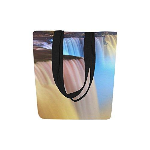 InterestPrint Wonderful Landscape Niagara Falls Canvas Tote Bag Shoulder Handbag by InterestPrint