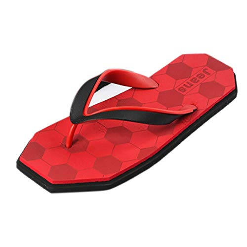 AopnHQ Men's Summer Flip Flops Sandal,Mens Casual Flats Hole Slippers,Opener Flip Flops For Men ()