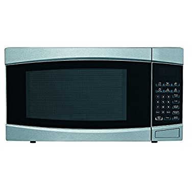 RCA RMW1414 Stainless Steel Microwave, 1.4 cu. ft., Black