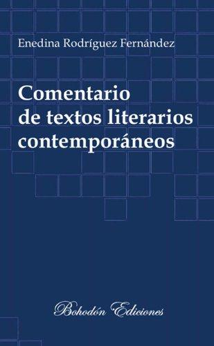 Descargar Libro Comentario De Textos Literarios Contemporáneos María Enedina Rodríguez Fernández