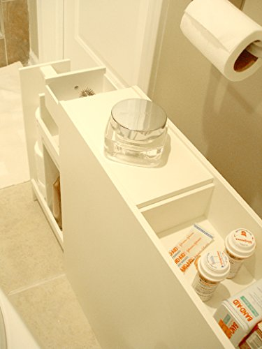 Proman Products Bathroom Floor Cabinet Wood in Pure White by Proman Products (Image #15)