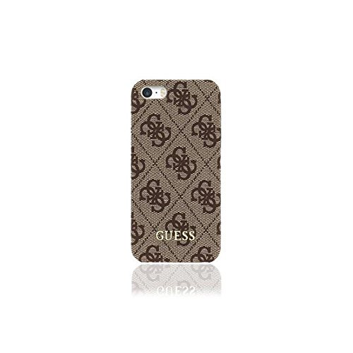 Guess GUHCPSE4GB 4G Collection Uptown Hard Case für Apple iPhone SE/5/5S braun