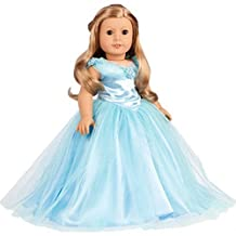 Cinderella - 3 piece outfit - blue gown, peticoat, silver slippers - 18 inch American Girl Doll Clothes (doll not included)