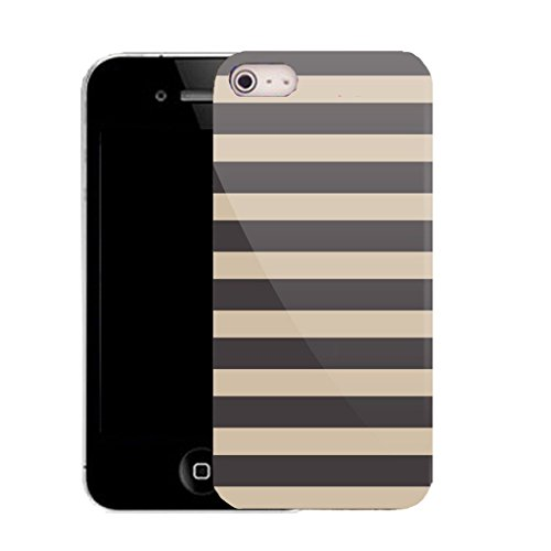 Mobile Case Mate IPhone 4s clip on Silicone Coque couverture case cover Pare-chocs + STYLET - multi line pattern (SILICON)