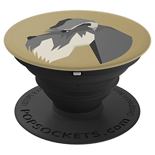 Schnauzer Dog Portrait Illustration Image Picture Dogs Gift - PopSockets Grip and Stand for Phones and Tablets