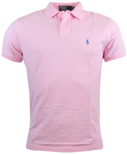 Polo Ralph Lauren Mens Custom Fit Mesh Polo Shirt - XL - Pink ()