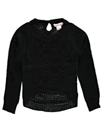 """Pink Angel Big Girls' """"Lace Point"""" Sweater"""