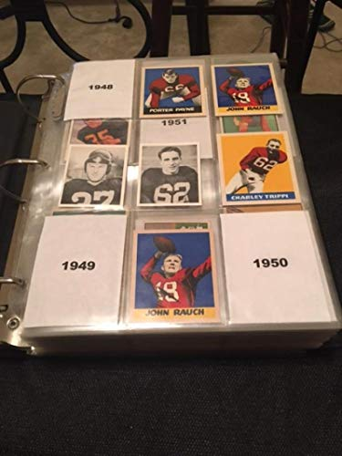 Football Card Collection of Every University of Georgia Bulldogs Letterman Ever in Pages and binder with Year of Card 1948-1950 are official reprints, others are originals. Lots of CFL pre-RC or CFL only. Also complete 200 card 1989 Set and 2016 Panini 49 card set, Nearly 600 cards, no dupes. Fran Tarkenton RC, 1984 Herschel Walker USFL XRC, 1987 RC, Hines Ward, Champ Bailey, Matthew Stafford, Todd Gurley. Includes multiple Autos and Mem cards as well. from Georgia Bulldogs Cards