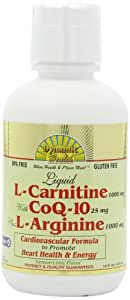 Dynamic Health L-carnitine ( 1000 mg) with Coq-10 (25 mg)  Plus L-arginine (1000 mg), 16-Ounce