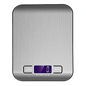 Digital Kitchen Scale, HogarTech Stainless Steel Food Scale, Ranging from 0.01oz / 1g to 11 lb / 5 kg