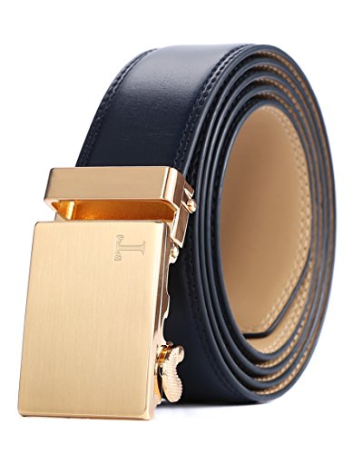 e Leather Ratchet Fashion Belt with Automatic Buckle (One Size:32