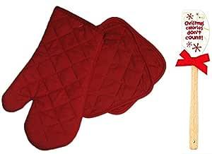 Navidad calorías no cuentan con espátula de silicona con rojo ...