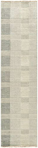 Safavieh Tibetan Collection TIB332B Hand-Knotted Grey Wool Runner 2 x 8
