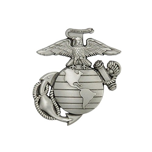 Solid Pewter Button - Indiana Metal Craft US Marine Corps EGA Solid Pewter Lapel Pin Made in USA.
