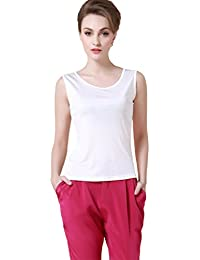 e926777ed78727 Forever Angel Women s 100% Silk Knitted Casual Tank Tops