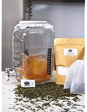 8L Deluxe Kombucha Tea Brewing Kit Organic Scoby!