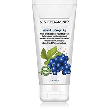 Viniferamine Wound Hydrogel Ag, Organic and Pharmaceutical-grade Skin Protectant (1)