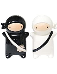 Take 180 Degrees Pj0345 Japanese Ninja Kids Salt & Pepper Shaker Set, Black and White by 180 Degrees discount