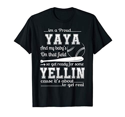 Proud Mama Baseball Shirt Funny Yaya Of Baseball Player Gift]()