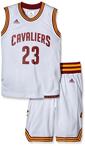 adidas Jungen Trikot Cleveland Cavaliers Kit, weiß, 164, AC4572