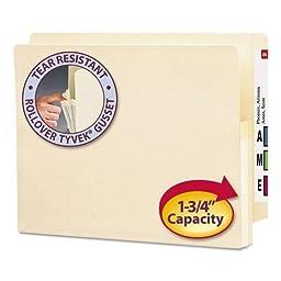 SMD75114 - Smead 75114 Manila End Tab File Pockets with Reinforced Tab