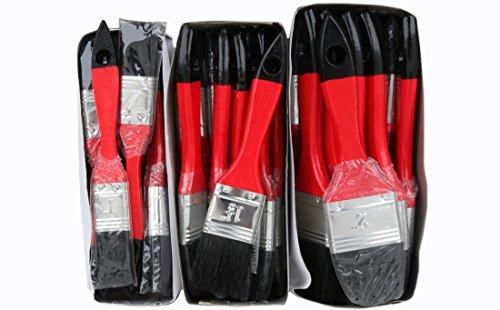 36 x Lackierpinsel Je 12 x 20 - 35 - 50mm für Beschichtungen mit lösemittelhaltigen Farben, Lacken und Lasuren