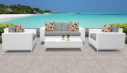 TK Classics MIAMI-05f-GREY Miami Seating Patio Furniture, Grey (Furniture Clearance Patio Miami)