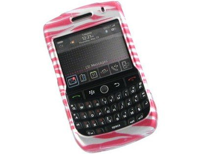 Curve 8900 Zebra (Hard Plastic Phone Protector Cover Case Hot Pink Zebra Skin For BlackBerry Curve 8900)