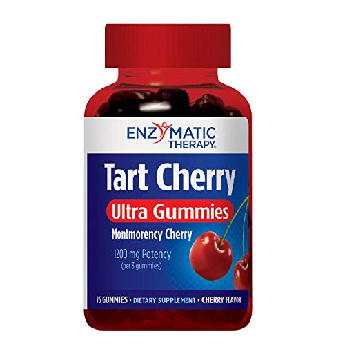 (Enzymatic Therapy Tart Cherry Ultra Gummies Supplement, Cherry, 75 Count)