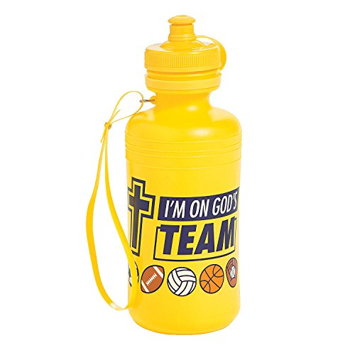 Fun Express - Sports Vbs Water Bottles - Party Supplies - Drinkware - Water Bottles & Canteens - 12 Pieces