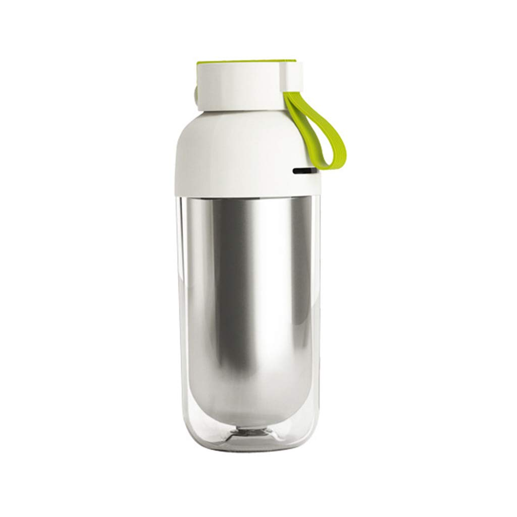 Xqr Insulation Cup Stainless Steel Double Water Cup Sealed Leakproof Cup Portable Covered Cup 425Ml,Green