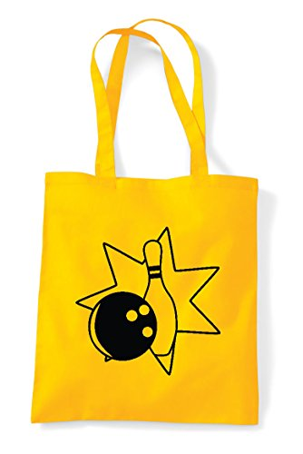 Pin Ball Bowling Statement Bag Icon Yellow And Tote 4 Bowling Shopper gEdqfw
