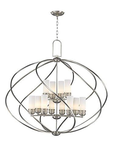 Livex Lighting 47199-91 Westfield 12-Light Foyer Chandelier, Brushed Nickel